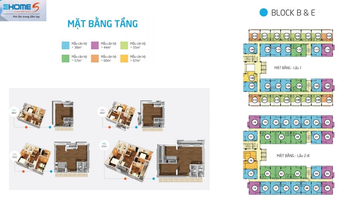 mat bang ehome s mizuki block B-E