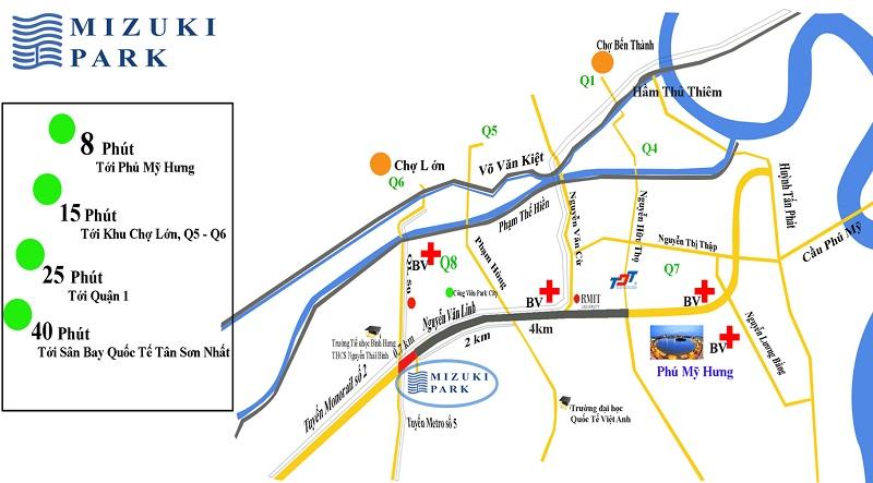 vị trí căn hộ mizuki park bình chánh