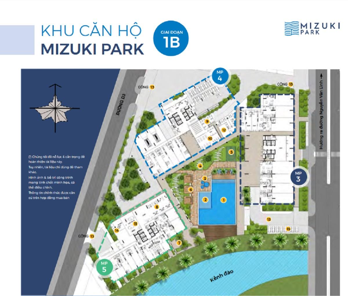 mặt bằng block 3,4,5 Mizuki Park